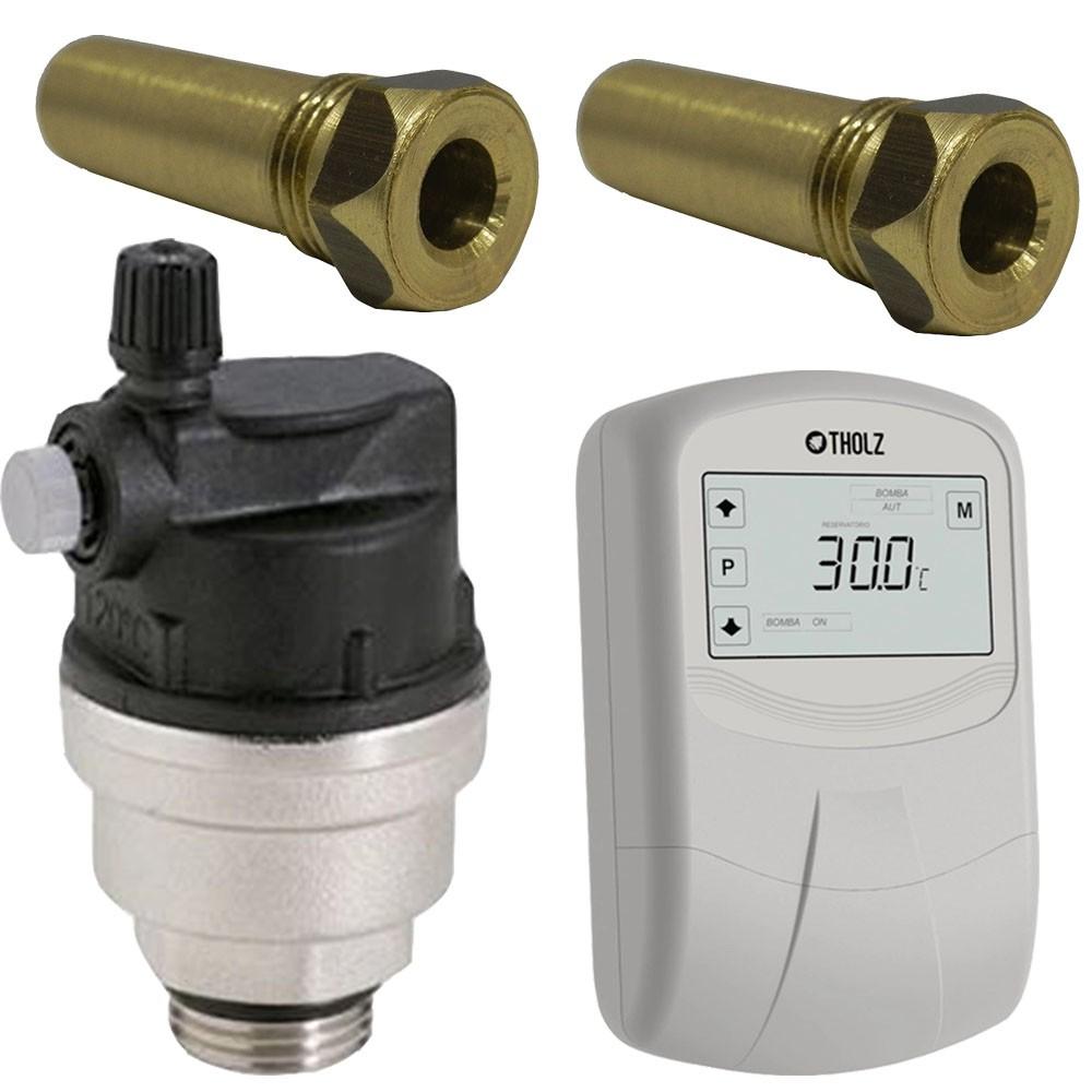 Kit MMZ + Válvula Eliminadora de Ar + 2 Poços Termométricos