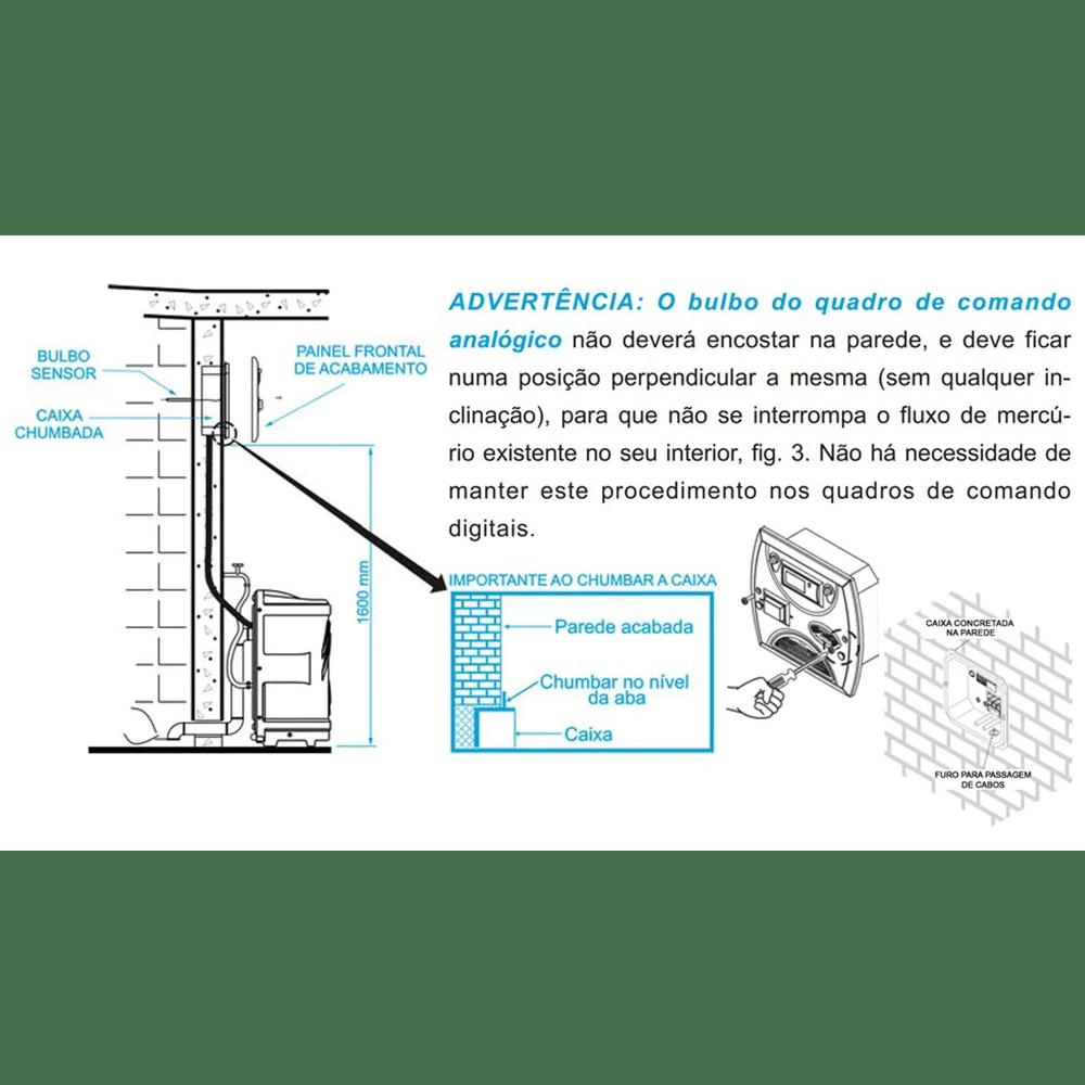 Kit Sauna a Vapor 12kw 220v Trif + Quadro Analógico Sodramar - 18m³