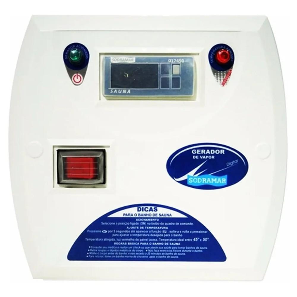 Sauna Seca 12kw para até 35m³ + Quadro Digital - Sodramar