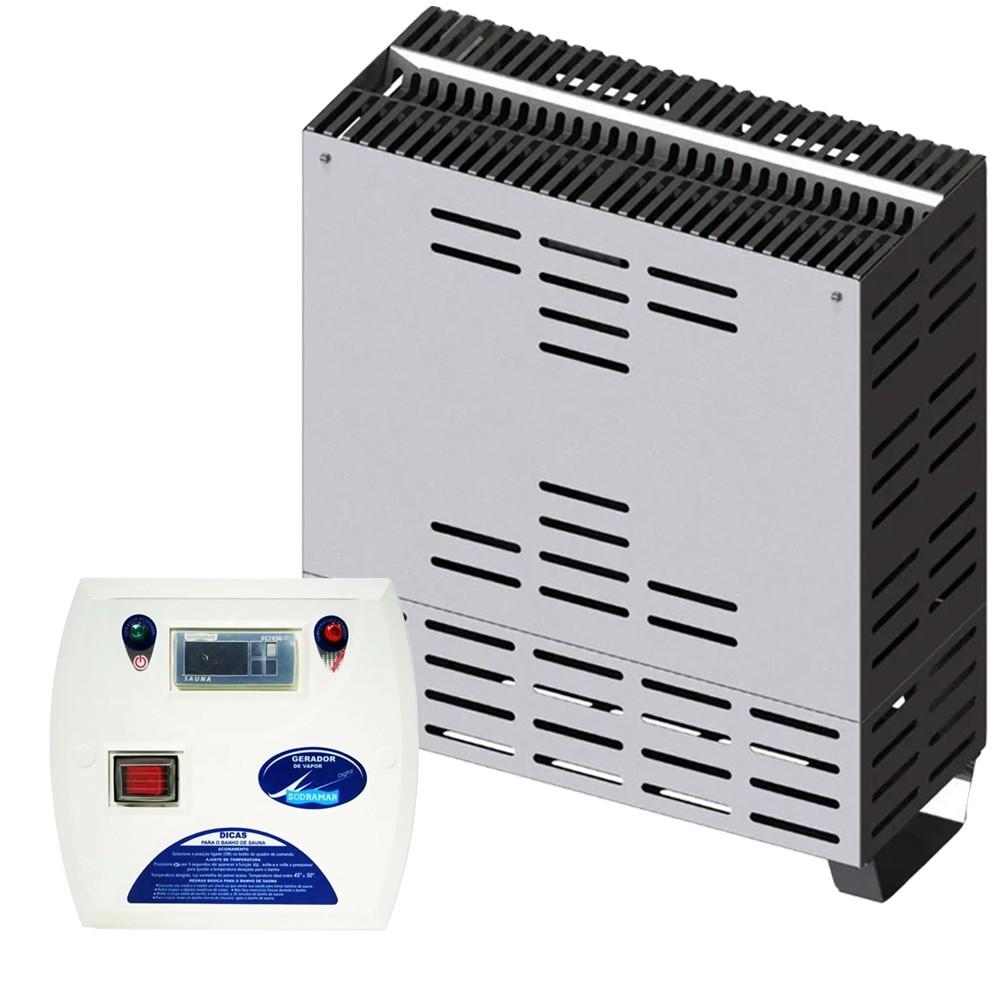 Sauna Seca 4kw para até 6m³ + Quadro Digital - Sodramar