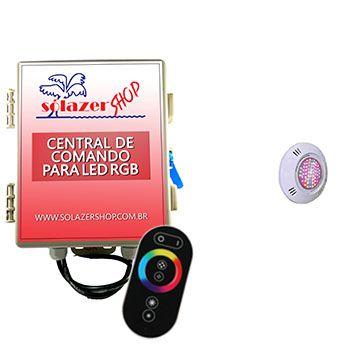 Kit 1 Led Piscina Pratic SMD + Central + Controle - Sodramar