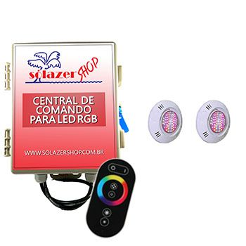 Led Piscina - Kit 2 Pratic SMD com Central e Controle Touch