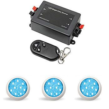 Led Piscina - Kit 3 Led Monocromático 9w com Central e Controle