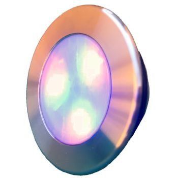 Led Piscina - Kit 4 Led RGB 12W Inox Divina Lux com Central e Controle