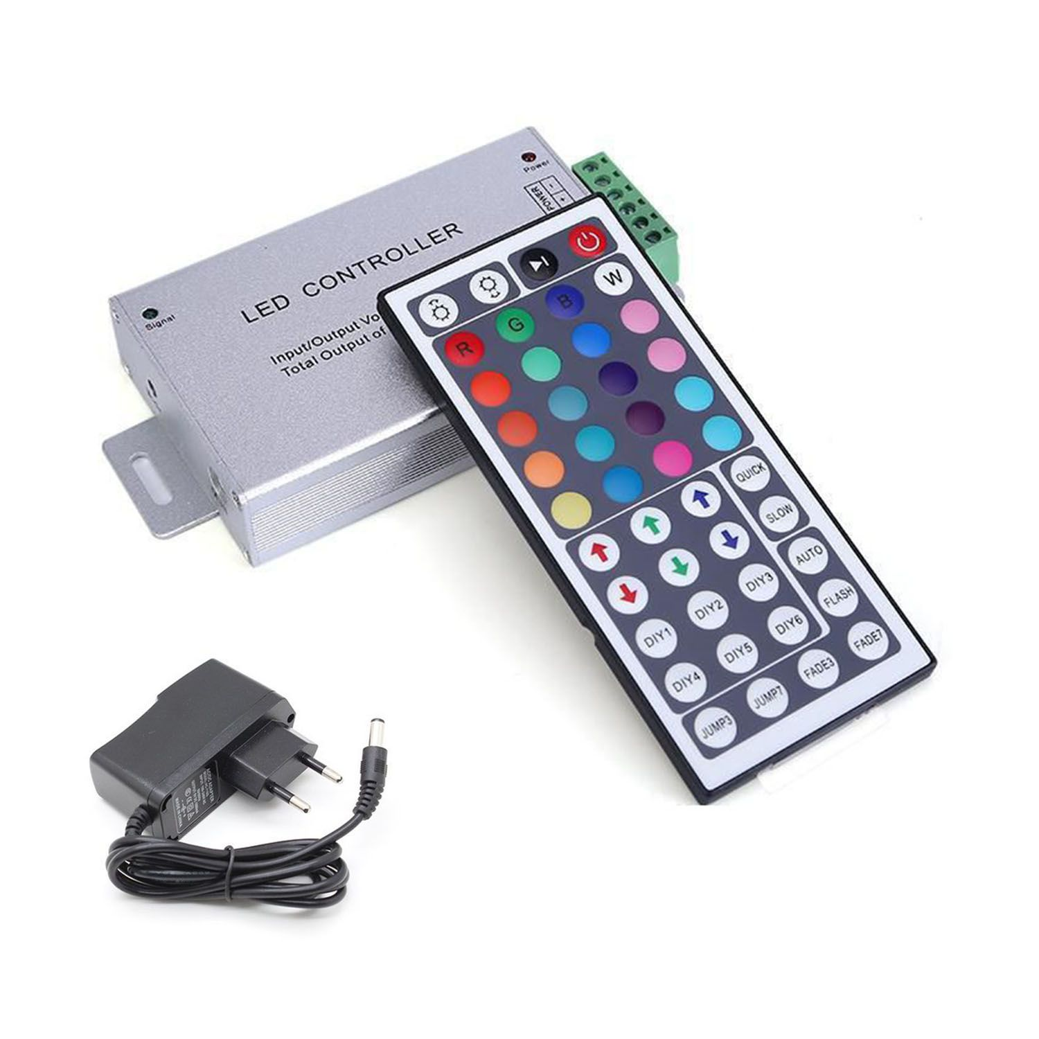 Kit 4 Led Piscina ABS RGB 6W + Central Compacta - Divina Lux