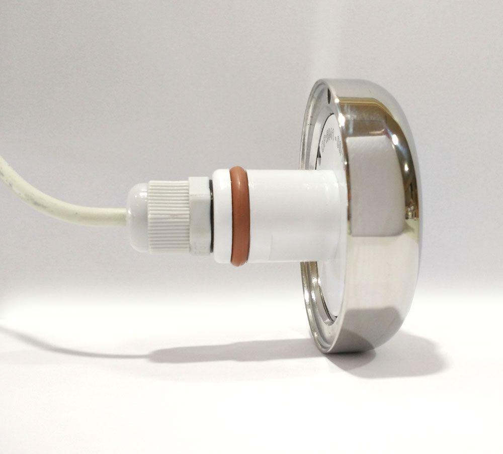 Led Piscina - Kit 4 Led Tholz 6W Inox RGB com Central e Controle Touch