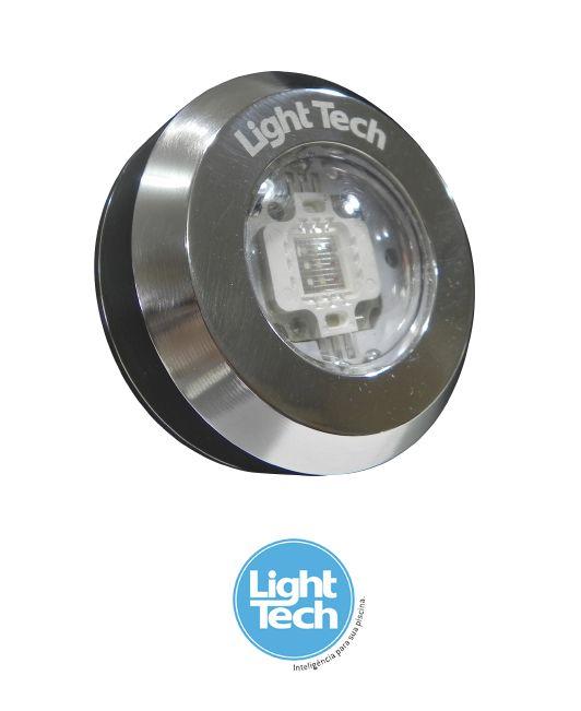Led Piscina - Kit 4 Tiny Led INOX RGB com Central e Controle Touch