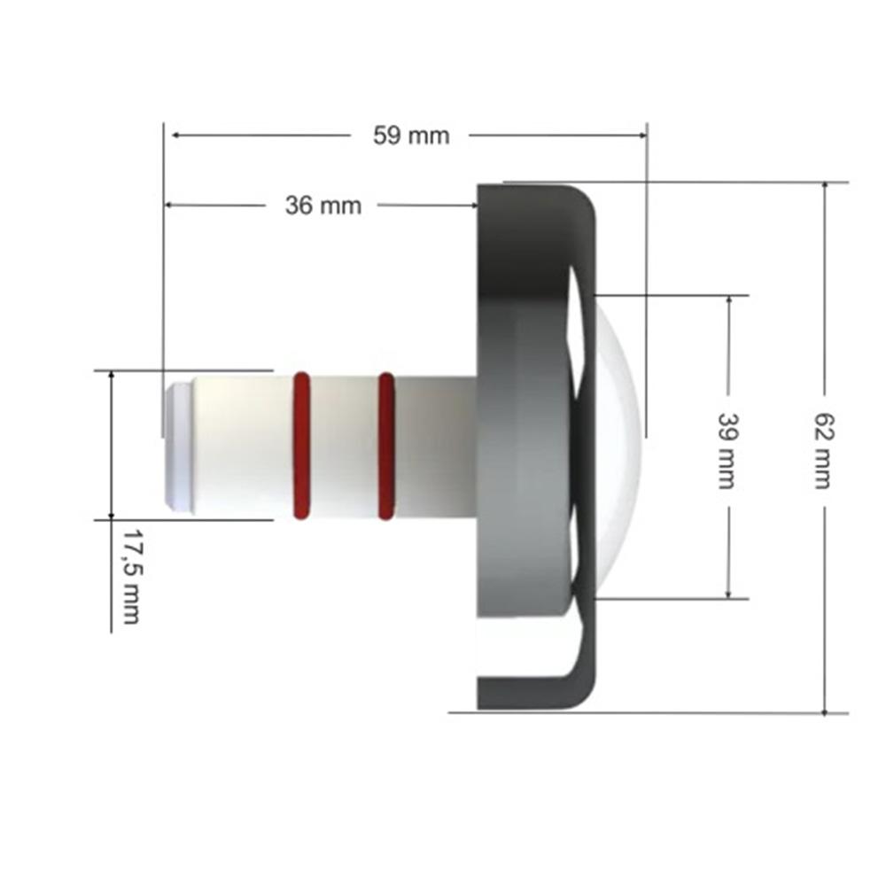 Led Piscina - Kit 5 Tholz RGB 6W Inox + Central Tholz