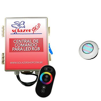 Led Piscina RGB - Kit 1 Easy Led 70 com Central e Controle Touch