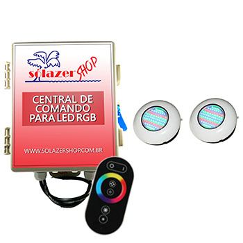 Led Piscina - Kit 2 Easy Led 70 + Central + Controle Touch