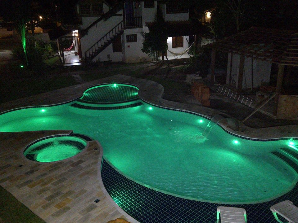 Kit 7 Led Piscina 4,5W ABS + Central + Controle Touch - Tholz