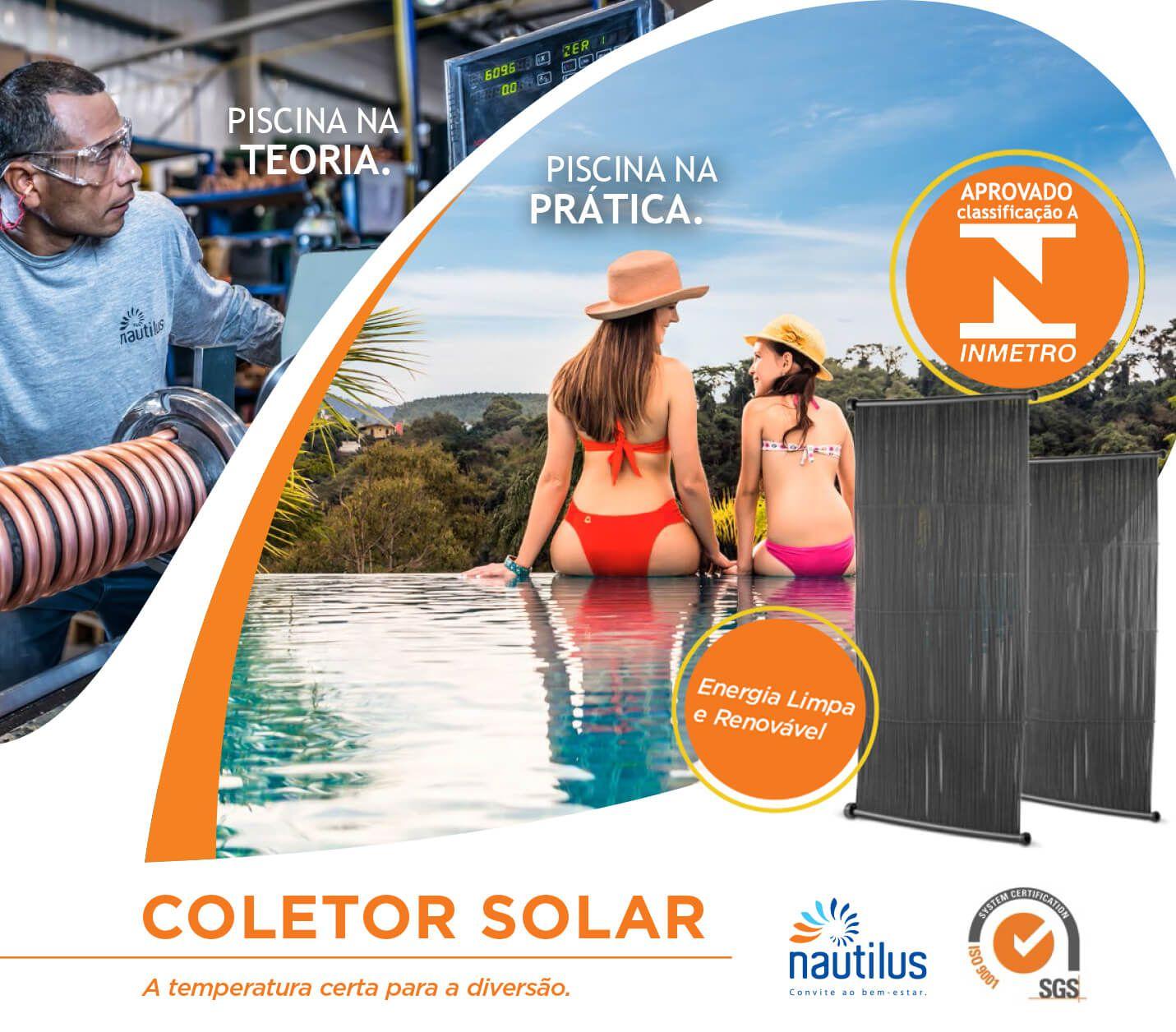 Placa Solar para aquecimento de Piscina Nautilus
