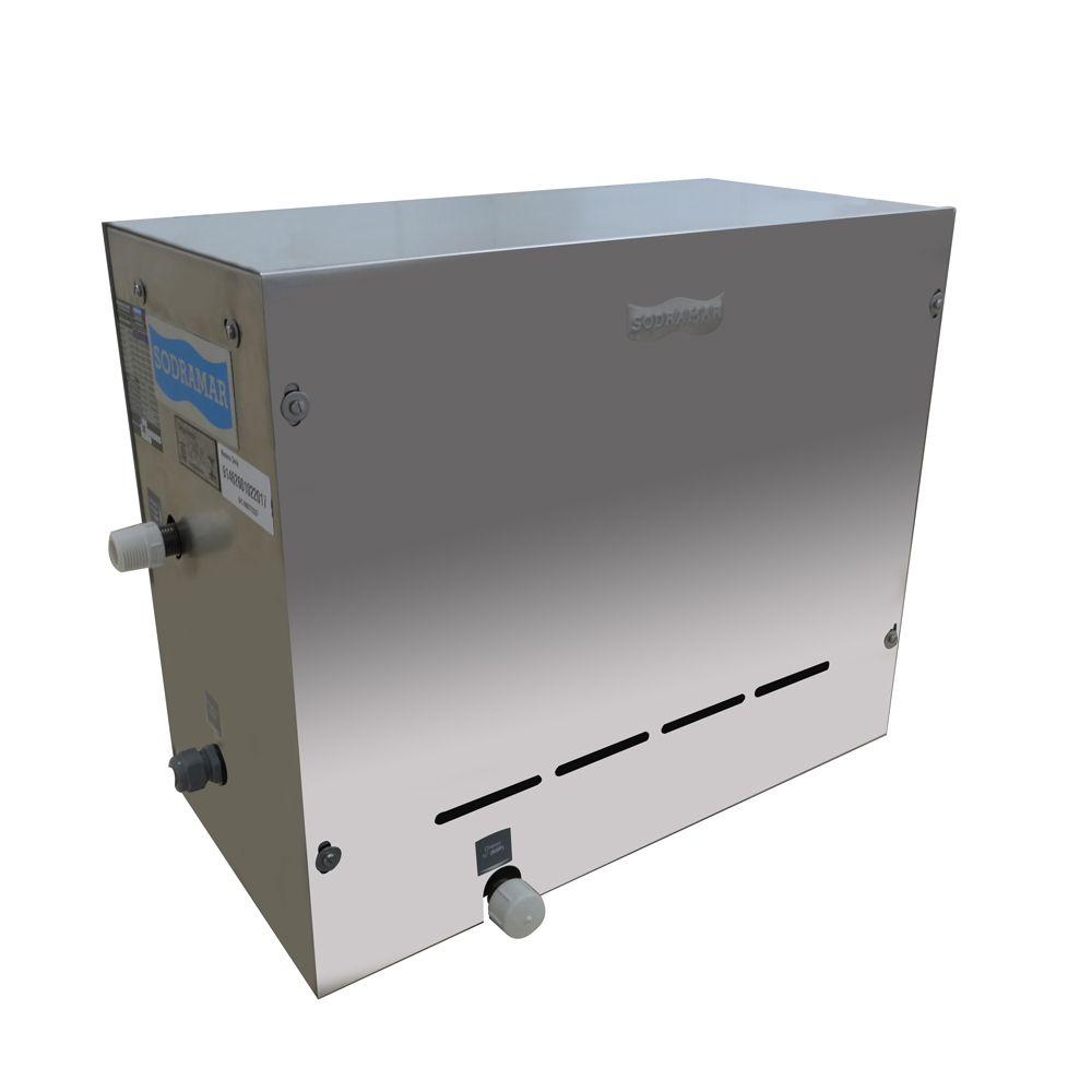 Sauna a Vapor Indoor Steam Inox - Sodramar 12kw - até 18m³