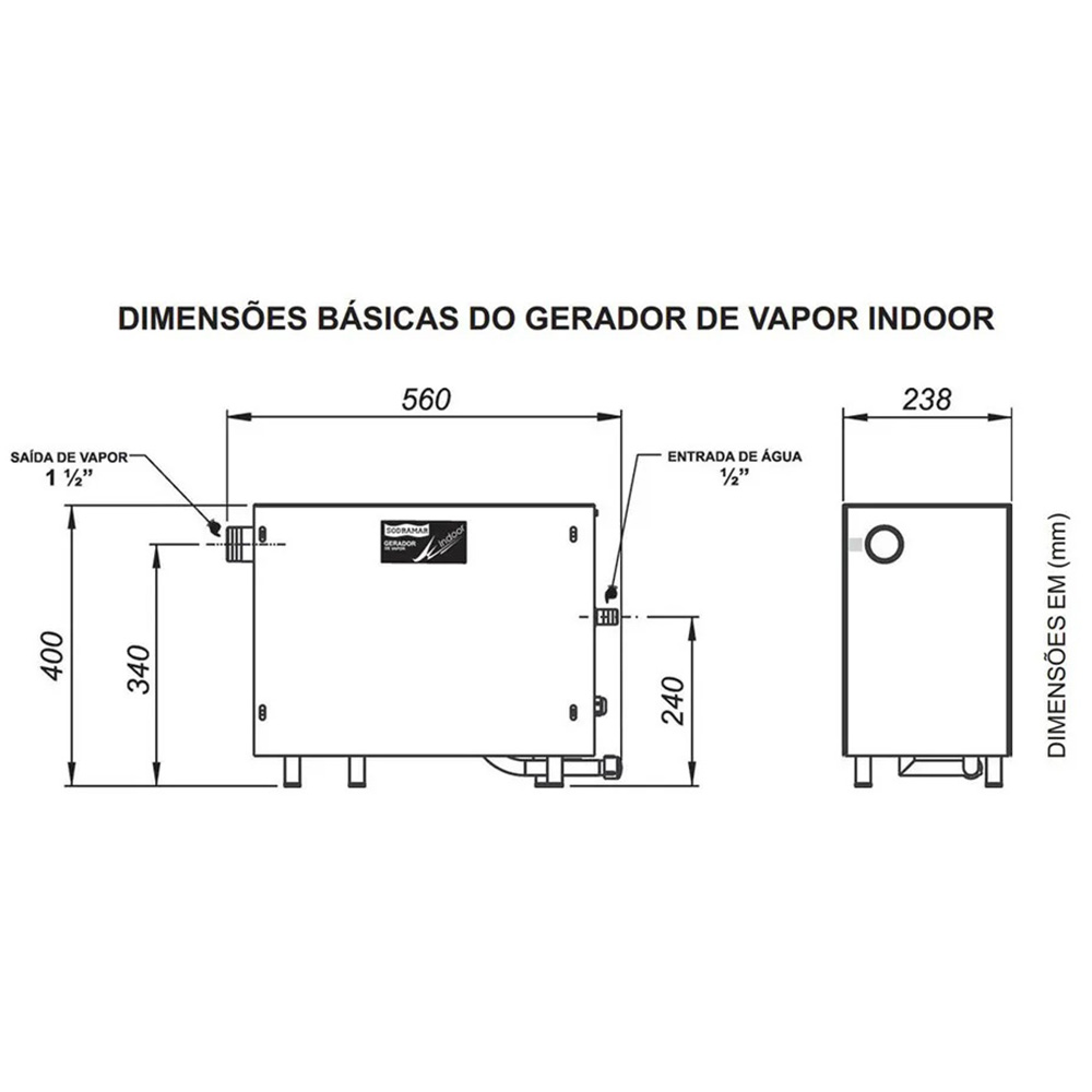 Sauna indoor 9kw + comando digital - Sodramar