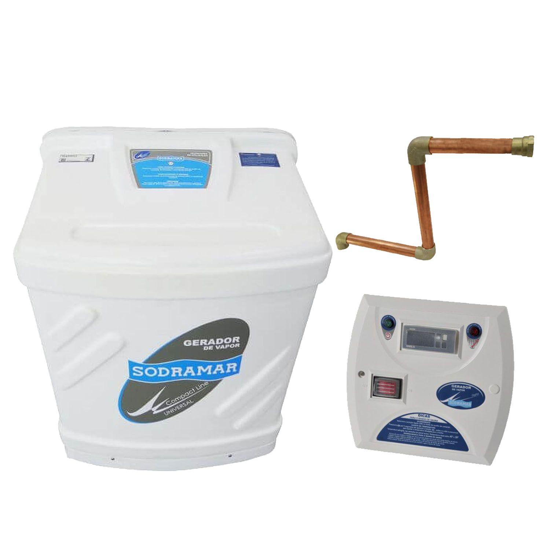 Sauna Vapor Sodramar Universal 12Kw + Quadro Digital + Kit Instalação 18m³
