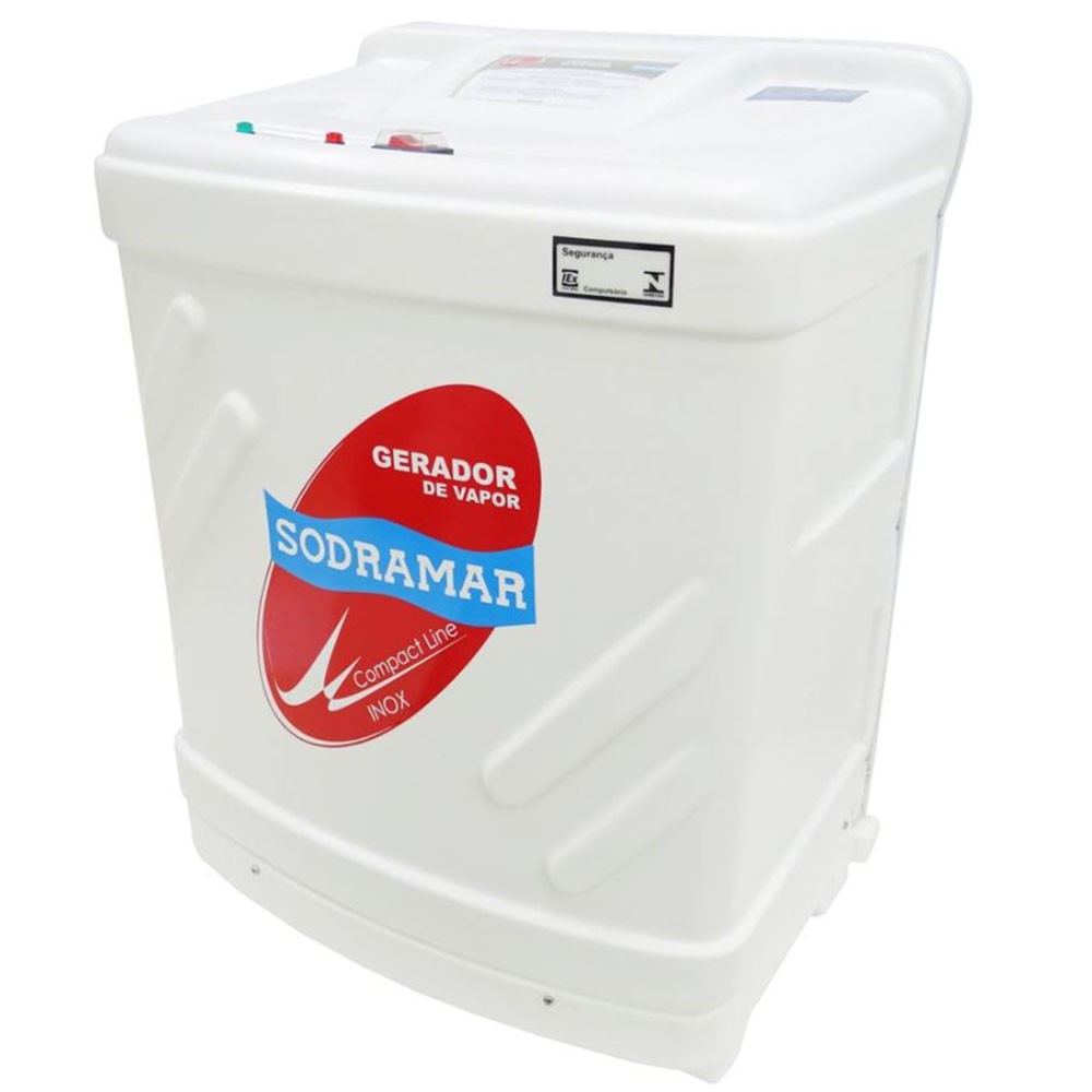 Sauna Vapor 15kw 380 Trif + Kit Instalação + Quadro Digital Sodramar - 25m³