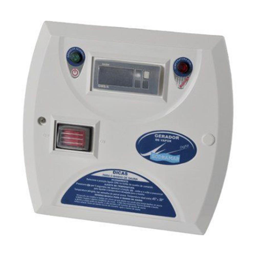 Sauna Vapor 6kw 220 Bif + Kit Instalação + Quadro Digital Sodramar - 6m³
