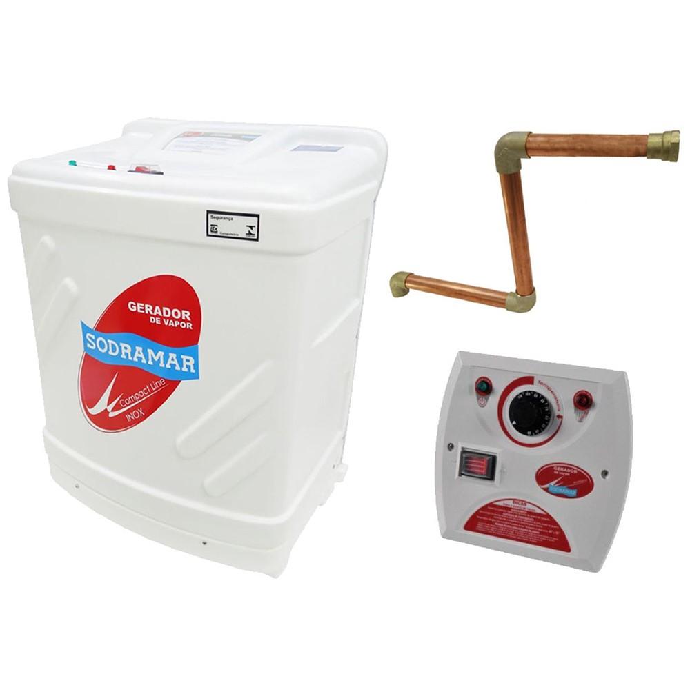 Sauna Vapor 6kw 380 Trif + Kit Instalação + Quadro Analógico Sodramar - 6m³