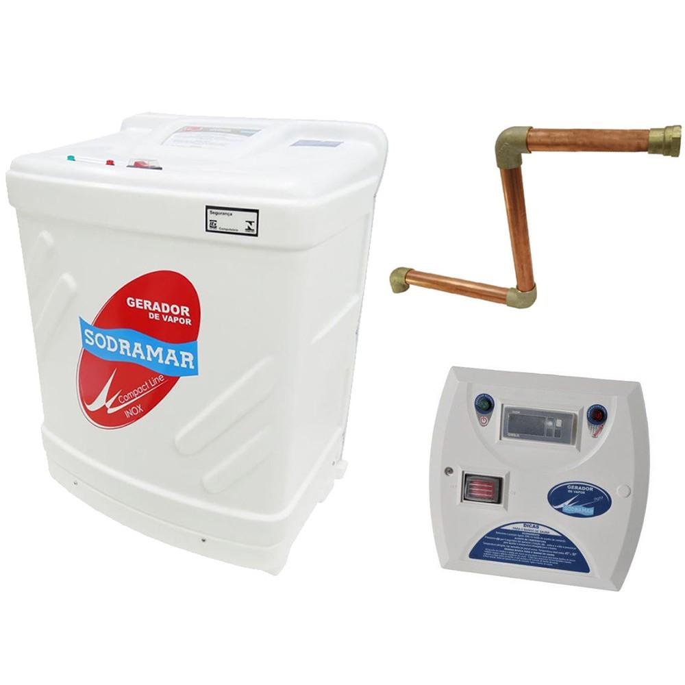 Sauna Vapor 6kw 380 Trif + Kit Instalação + Quadro Digital Sodramar - 6m³