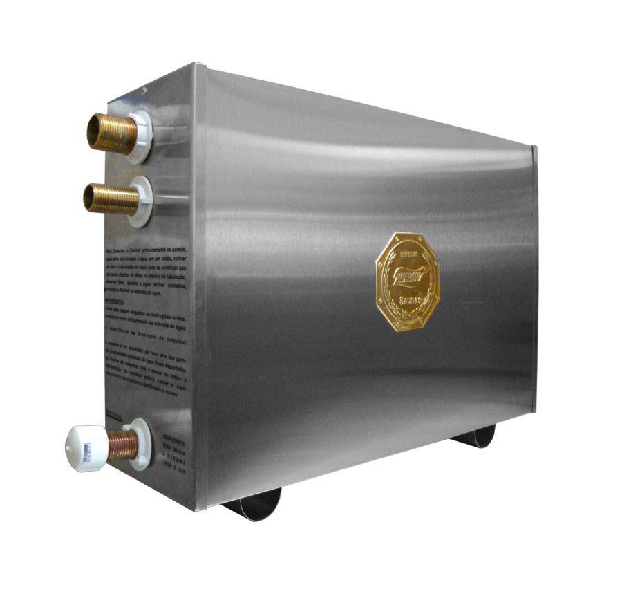 Sauna Vapor Elétrica 12kw Inox já com Comando Digital Impercap