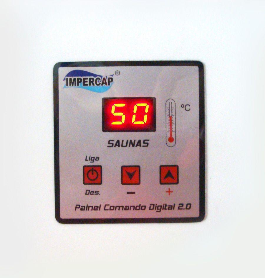 Sauna Vapor Elétrica 16kw Inox já com Comando Digital Impercap