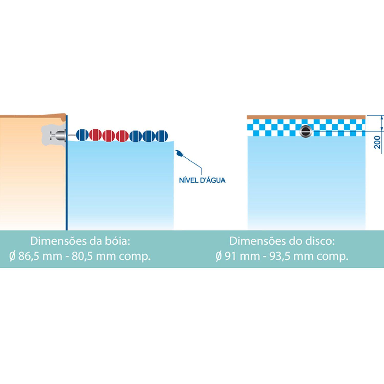 Suporte Raia Flutuante em ABS para Piscinas de Vinil, Alvenaria e Fibra