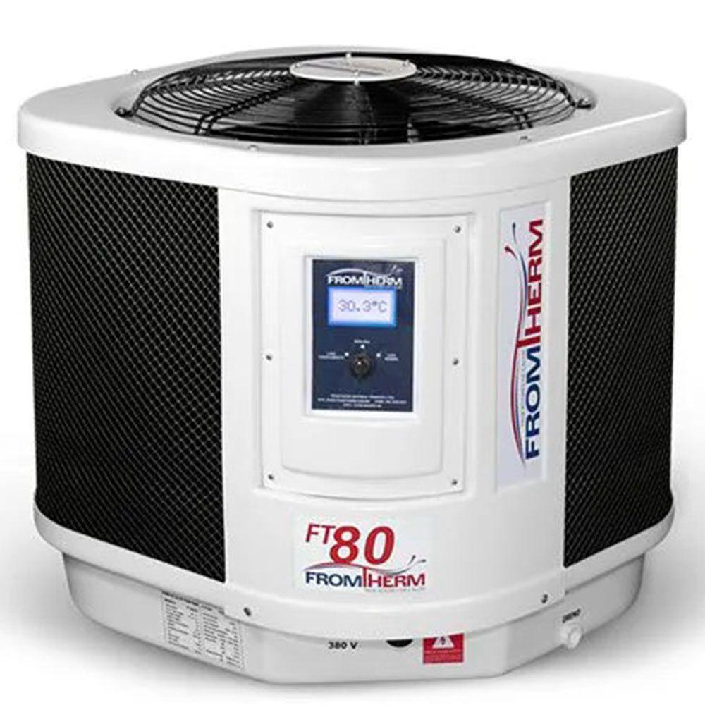 Trocador de Calor Aquecedor Piscina FromTherm FT100 (Degelo à Gas)