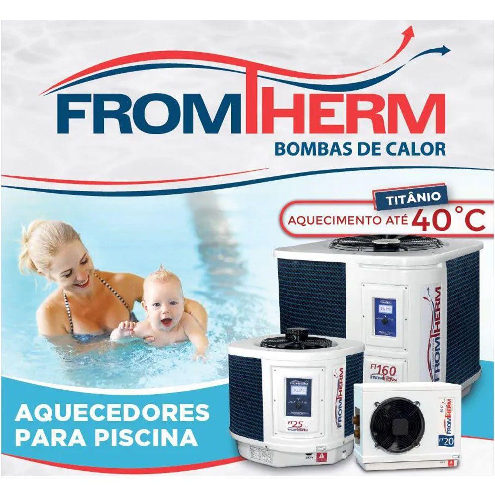 Trocador de Calor Aquecedor Piscina FromTherm FT20 (Degelo à Gas)