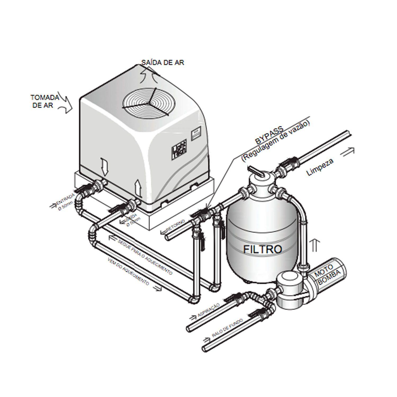 Trocador de Calor Aquecedor Piscina LT-50 - Light Tech