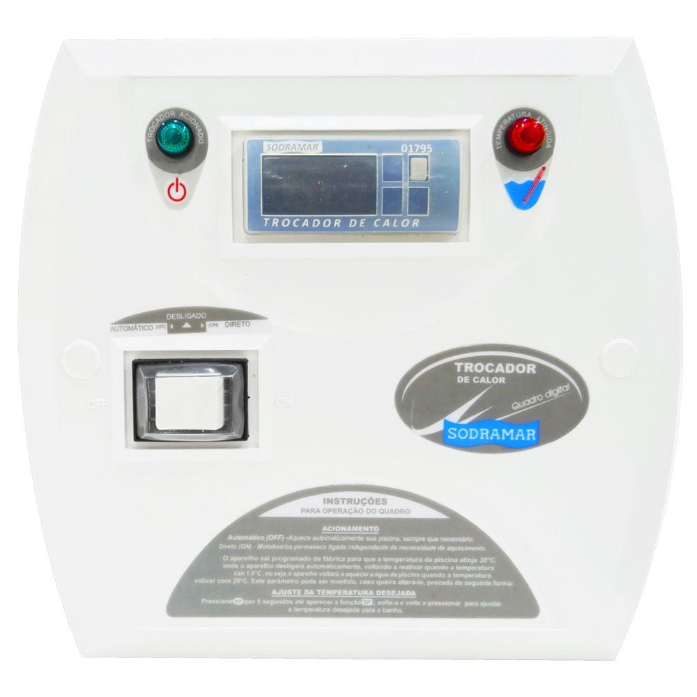 Trocador de Calor SD 25 TITÂNIO 220v Bif Sodramar - Aquecedor Piscina