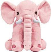 Elefante Gigante Almofada Pelucia Extra Macia Rosa Antialergica Para Criança Protecao Para O Bebe Menina Buba Baby.