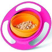 Prato Magico Giro Bowl Rosa E Porta Frutinha Silicone Chupeta Dosadora Bebe Criança Buba