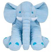 Elefantinho Almofada Pelucia Azul  Antialergica Para Criança Bebe Buba Baby.