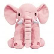 Elefantinho Almofada Pelucia Rosa  Antialergica Para Criança Bebe Buba Baby.