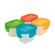 Kit 4 Potinhos Tampa Hermética Freezer Micro-ondas Buba Baby