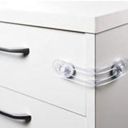 Kit com 02 Trava pvc trasparente para armarios geladeiras