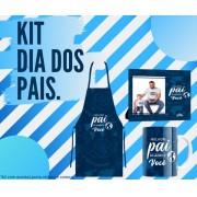 Kit Pai Avental Caneca Porta Retrato Presente Para Dia Dos Pais