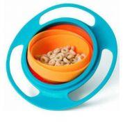 Prato Giro Bowl Blister Azul De Bebe Buba Baby Tigela Refeição Potinho de alimentacao Prato Magico Giratório