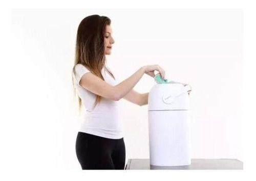 Lixo Magico 20 Fraldas Lixeira Anti Odor Ambiente Bebe
