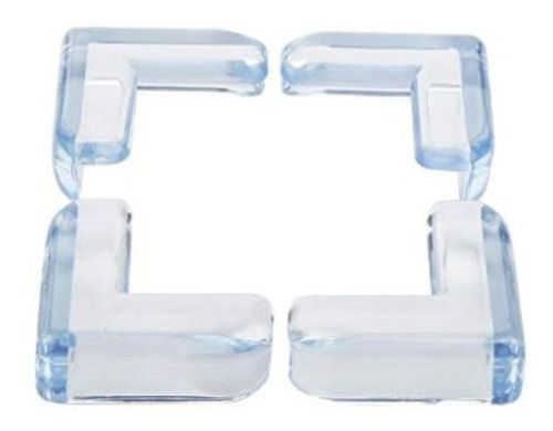 Kit 4 Protetores De Quina Angulares Material Flexivel Transparente Seguranca Bebe Crianca Tranquilidade Mamae .