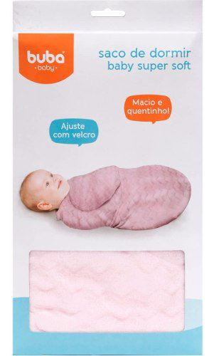 Saco De Dormir Super Soft Velcro De Fechameto Ajustavel Bebe Coberta Manta Rosa Buba Baby.
