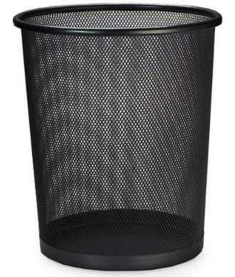 Lixeira Telada Redonda De Aço Para Escritorio Cesto De Lixo