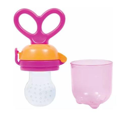 Alimentador Para Bebê Porta Frutinha E Legumes Buba Baby Cor - Rosa