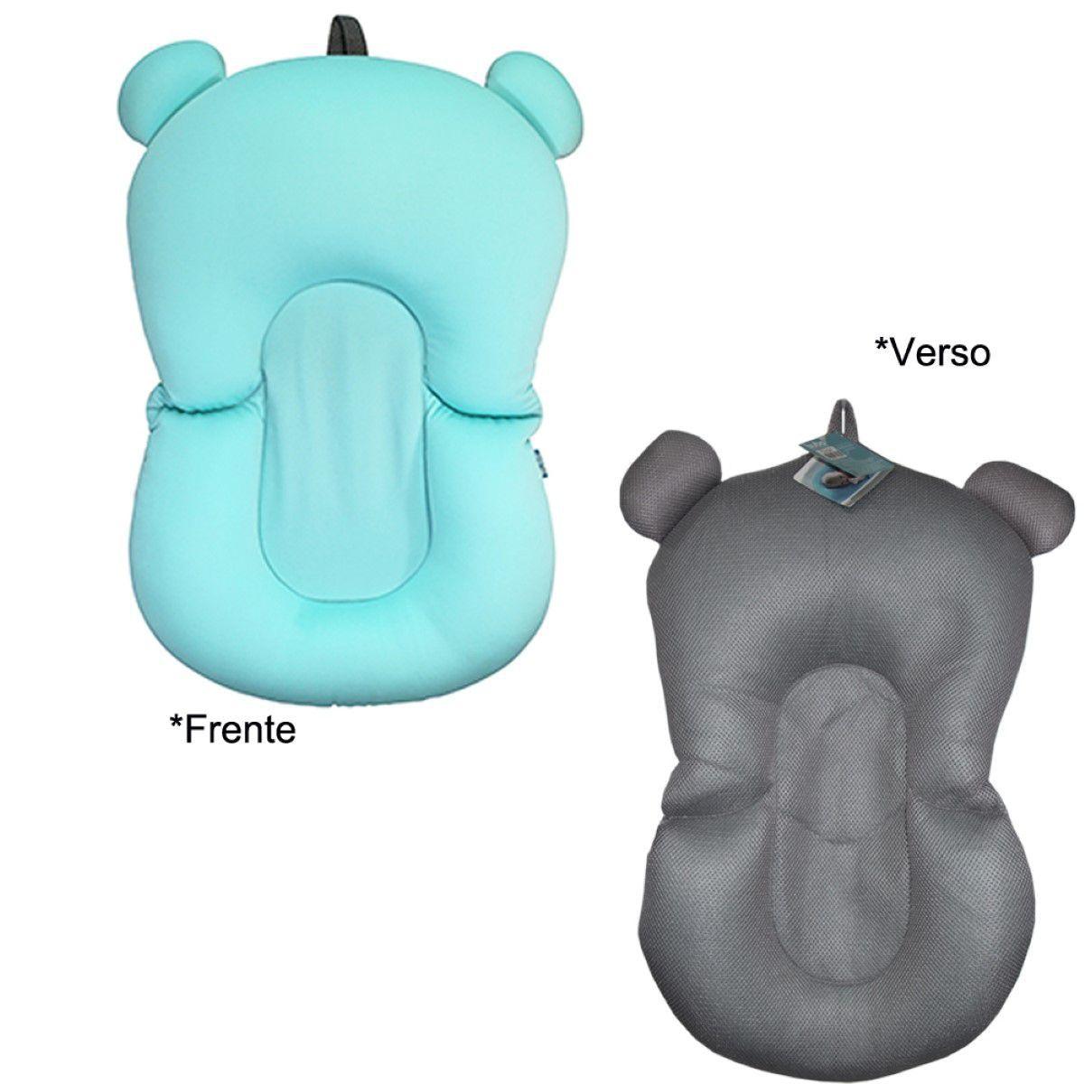 Almofada Azul para Banho Bebe na Banheira Boia Flutuadora Macia Segurança Proteçao para o seu bebe Buba Baby .