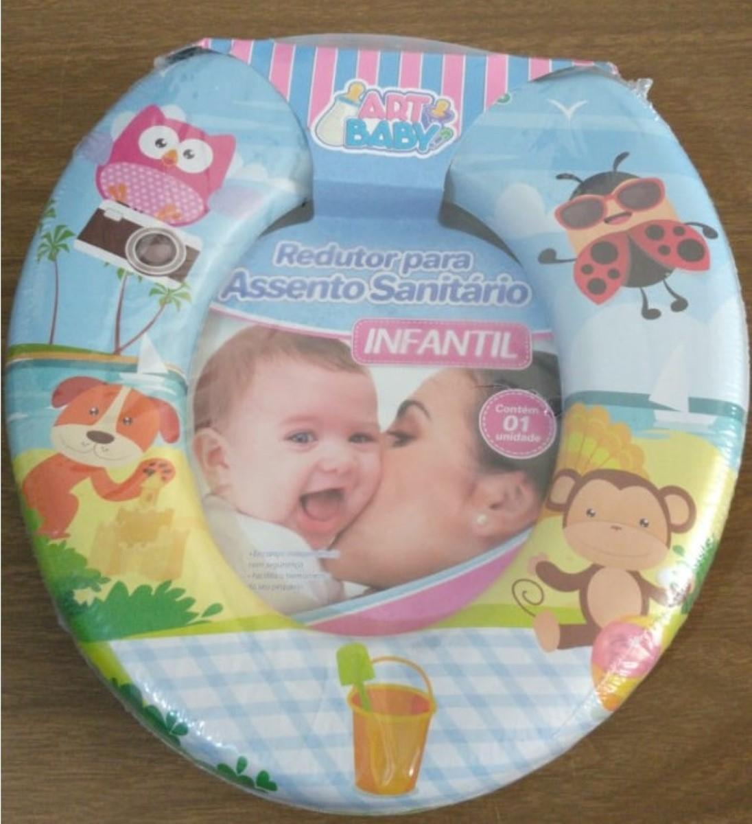 Assento Infantil Acolchoado Redutor Vaso Sanitário Criança.