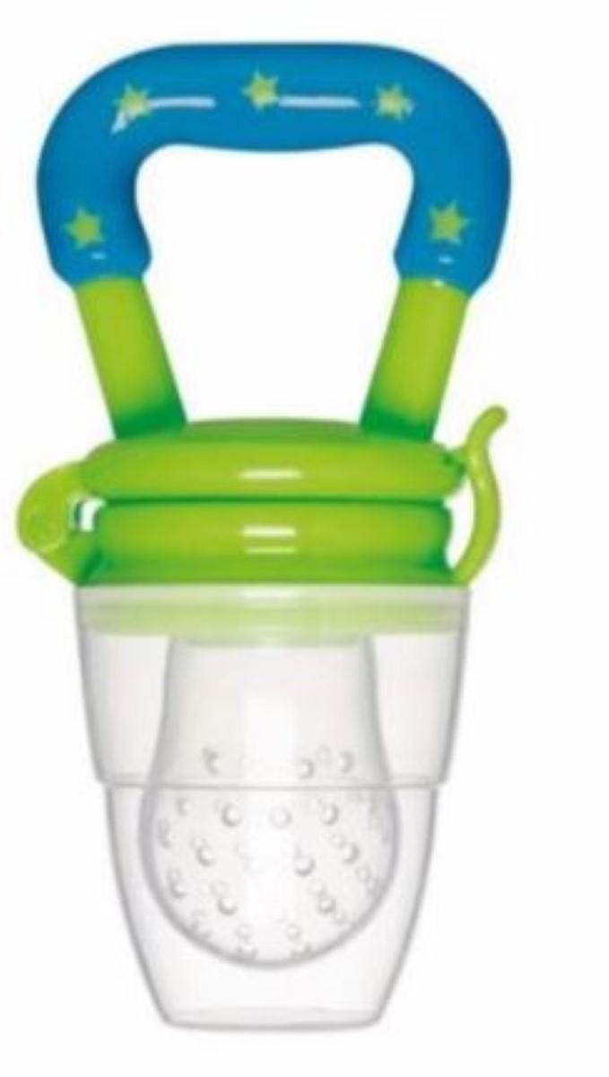 Chupeta Alimentadora  Para Bebê  Porta Frutinha E Legumes Buba Baby Cor - Azul