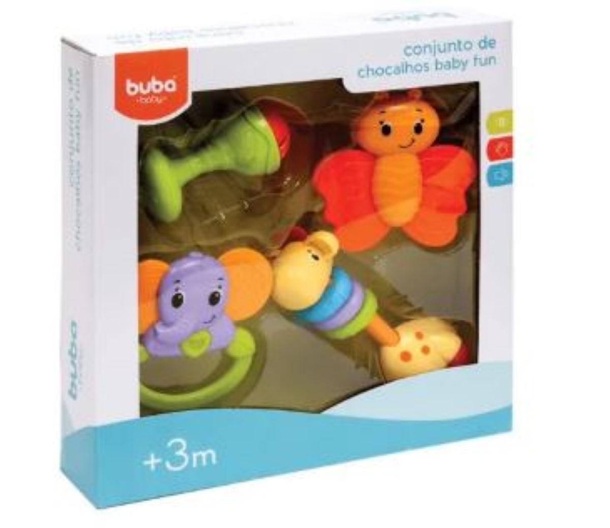 Conjunto De Chocalhos Baby Fun Bebe Infantil Buba