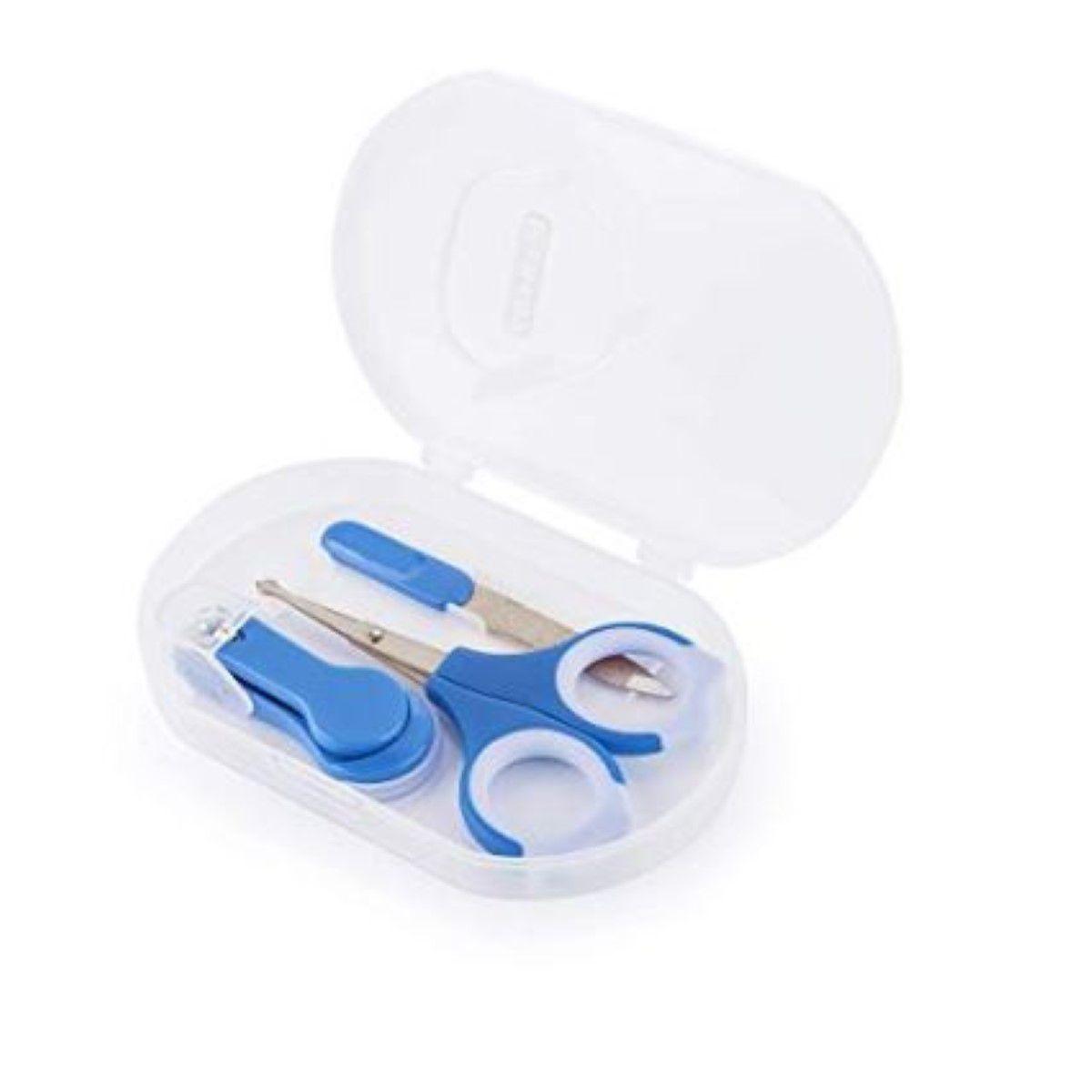 Kit Manicure Premium Azul Kababy Saude do seu bebe.
