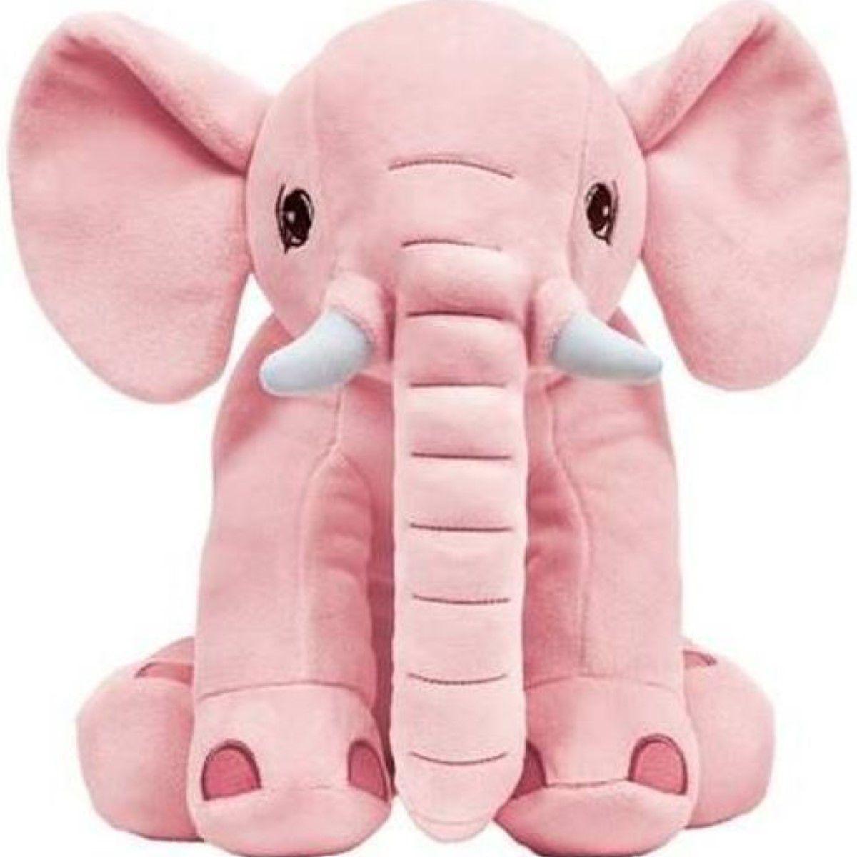 Elefante  Almofada Pelucia Extra Macia Rosa Antialergica Para Criança Protecao Para O Bebe Menina Buba Baby.