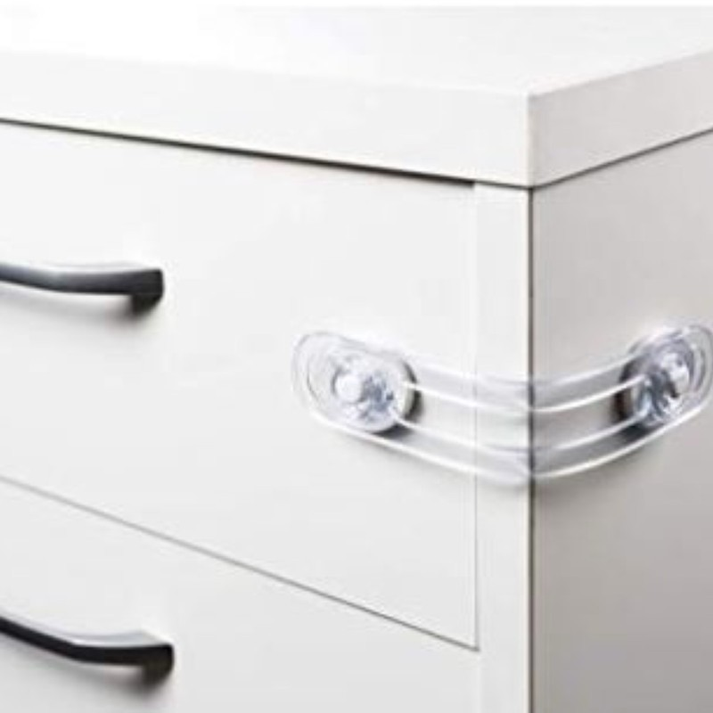 Kit 02 Travas PVC para Gavetas armarios portas gabinetes
